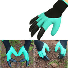 More details for gardening digging planting pruning tools lawn care 8 claws garden genie gloves