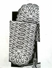 821 Vintage LW PINEAPPLE SCARF & MAT Pattern to Crochet (reproduction)