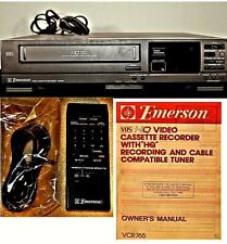 New listing Emerson Video Cassette Recorder Vcr Hq Front Loading System Vcr765 with remote