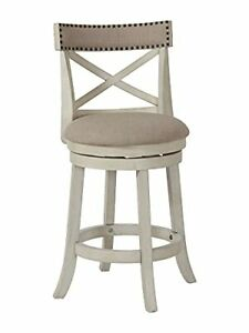 New Classic Furniture York Counter Swivel Bar Stool with Open Back and Fabric...