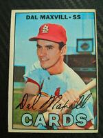 1967 Dal Maxvill 421 Topps Baseball Card MLB