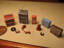 N Scale Interior Details Tire Shop Gas Service Station Detail Parts (11 pcs.)