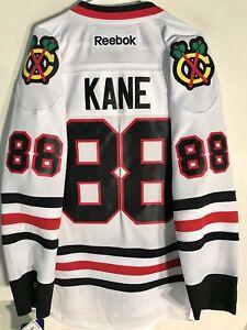 Reebok Premier NHL Jersey Chicago Blackhawks Patrick Kane White sz L