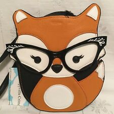 Sleepyville Critters Foxy Fox Cross Body Handbag Purse Shoulder Bag NWT
