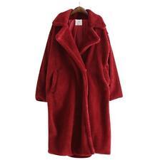 Luxury Women's Oversized Fur Long Thick Wool Warm Winter COutwear coat size Hot
