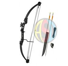 Asd tir à l'arc noir striker compound bow avec flèches et accessoires enfant-adulte