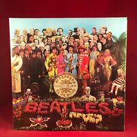 THE BEATLES Sgt. Pepper's Lonely Hearts Club Band 1988 UK remastered vinyl LP EX
