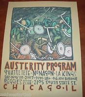 Jay Ryan Art Print S/# 200 Austerity Program L. A. Kings Poster 2007 Serigraph