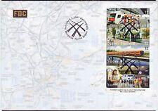 Tram Metro Tramline Map Underground Railway Subway Finland Helsinki FDC 2007