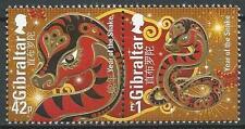 Gibraltar Mi.Nr. 1524-1525** (2013) postfr./Chines. Neujahr (Jahr der Schlange)