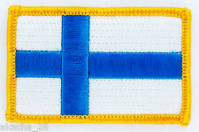PATCH ECUSSON BRODE DRAPEAU FINLANDE INSIGNE THERMOCOLLANT NEUF FLAG PATCHE