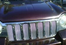 CHROME MESH GRILLE GRILL KIT For JEEP LIBERTY 02 03 04 NEW
