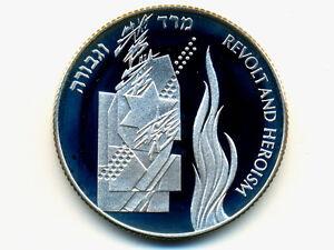 Israel Commemorative Coin:KM-248,2 NIS ,1993 * Revolt & Heroism * Silver * PR *