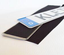 Kennzeichenhalter Rahmenlos Klett 2x Klettox Selbsklebend Nummernschildhalterung