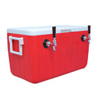NEW Jockey Box Cooler for Beer - 2 Faucet, 5/16'' x 120' Stainless Coils, 48qt