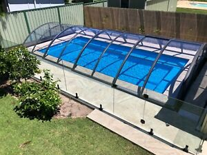 Made in Europe!!! Telescopic /  Retractable Pool Enclosure / Pool Covers