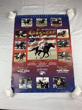 Vintage Horse Of The Year Racing Collectible 1995 Cigar Poster Art Memorabilia