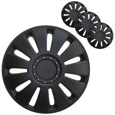 4 Stück Radkappen 14 Zoll Radzierblenden in Schwarz Radblenden Universal