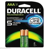 Duracell NLAAA2BCD Rechargeable Nimh Batteries With Duralock Power Preserve