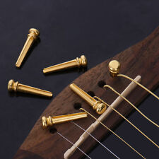 Round Head Brass Acoustic Guitar Strings Fixed Cone Bridge Pins End For Guitar