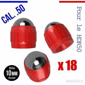 18 Slugs pour HDR50 T4E de UMAREX cal.50 bille 10mm poids 4,8g CO2 - Rouge