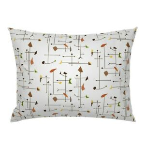 Retro Earth Kinetic Abstract Rust Avocado Pillow Sham by Roostery