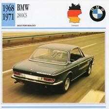 1968-1971 BMW 2800CS Classic Car Photo/Info Maxi Card