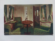 London & NW Railway KEVII Royal Train Vintage colour Postcard 1905 Royal Suite
