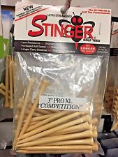 "Stinger 3"" Pro XL Competition New Bamboo golf tees 3 Packs of 25"