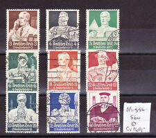Germany Deutsches Reich 1934 Mi nº 556-564 Liberal aide d'urgence issue used