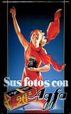AGFA FILM tôle bouclier plaque Métallique Bouclier 3d marqué Courbé Tin Sign 20 x 30 cm