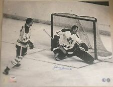 JOHNNY BOWER Signed Autograph Auto 16x20 Photo Picture Toronto Maple Leafs PSA