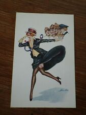CPA Postcard ILLUSTRATEUR Xavier Sager ATTRACTIONS PARISIENNES Wellcome v. 1925