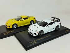 1:64 Kyosho CAR.NEL Lexus LFA LF-A Yellow+Nur Nurburgring Package 2010 2Cars Set