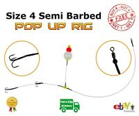 Size 4 Semi Barbed Pop Up wire Trace - Pike Fishing Bait Rig - Buy 4 Get 1 Free