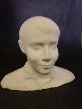 Original marble bust life size portrait unknown male Charles A. Wells signed Rar