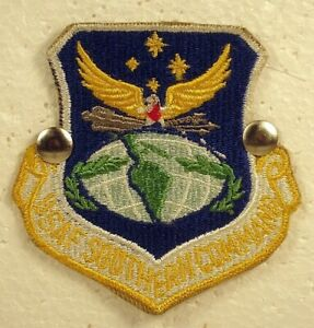 USAF Air Force Southern Command Insignia Badge Patch Full Colored Obsolete