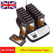 T113 Restaurant Cafe Wireless Call Paging System Transmitter+16Chargerable Pager