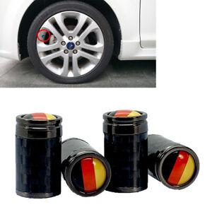 Germany Real Carbon Fiber Tire Wheel Air Valve Stem Cap 4pcs For Kia Hyund