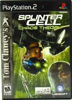 Tom Clancy's Splinter Cell: Chaos Theory Playstation 2 2005 PS2 No Manual Tested