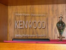 KENWOOD DX ETCHED GLASS SIGN W/BASE