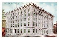 1910 YMCA Building Denver Colorado Street View Postcard