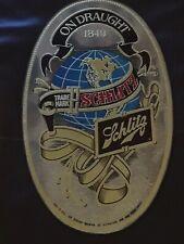 Vintage 1976 Schlitz Beer Mirror Sign Advertising Brewery Bar Man Cave 20�x12�