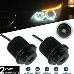2x 40W Cree LED Angel Eyes Halo Ring Bulbs White For BMW E60 E61 LCI 2007-2010
