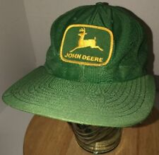 VTG JOHN DEERE 70s USA Louisville MFG CO LONG BILL Green Trucker Hat Cap Snap