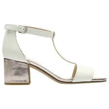 Clarks Barley Belle White T-bar Sandals UK 8 (d Fit) EU 42 Lg06 84