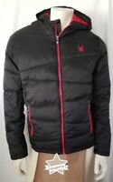 NEW WITH TAGS! MEN'S SPYDER NEXUS PUFFER JACKET (INSULATED) BLACK AND RED