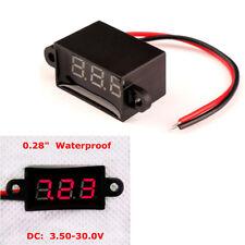"0.28"" LED Digital Voltmeter Panel Meter Variable Precision DC3.5-30V Waterproof"
