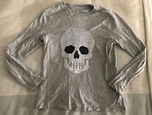 Gap Kids Boys Long Sleeve Skull/Game Over Gamer T-Shirt (Size XL)