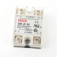 25A SSR-25 DA  Solid State Relay Module 3-32V DC Temperature Control AC 24-380V